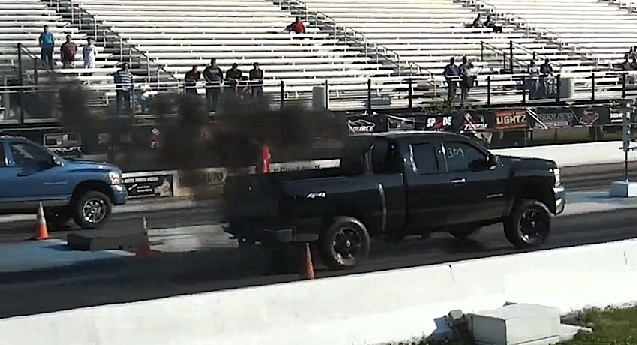 Video: Duramax Breaks Tie Rod, Keeps Racing Like Badass