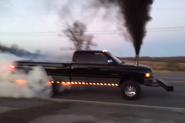 '97 Dodge Ram 2500 Shows Off A Doubly Smoky Burnout