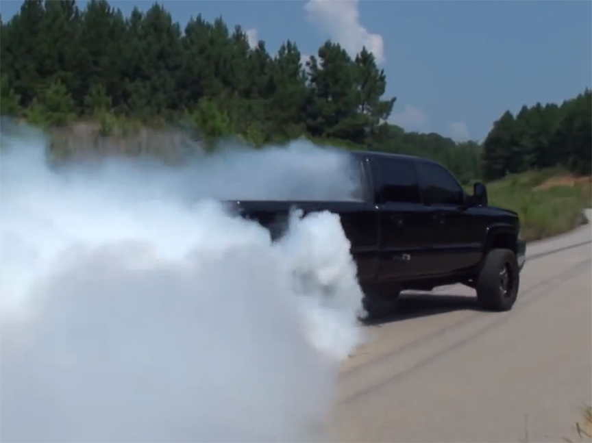 Duramax In Need Of Tire Sponsor After Smoky Burn Out!