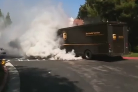 Runaway UPS Truck-Delivery Might Be Delayed!
