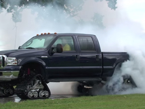 Think You Can't Do A Burnout With A Set of Tracks? Think Again!