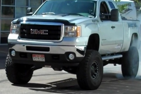 Video: Watch This Hopped Up GMC 2500 Perform A Monster Burnout