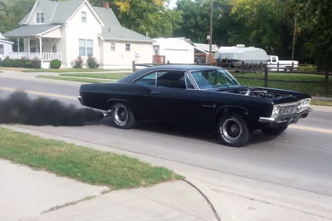 Video: Ridin' In My 66 Impala Sippin Diesel and Roasting Some Tires