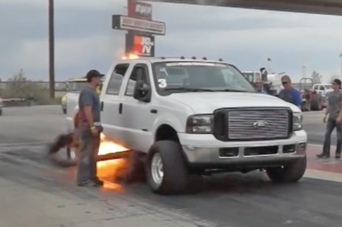 Watch This MASSIVE Exhaust Backfire On A 1,000+ HP Diesel Drag Truck