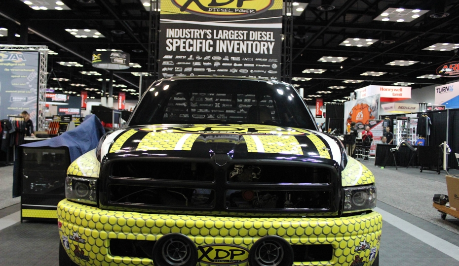 PRI 2017: Anthony Reams' Drag Truck Spotted At XDP Booth